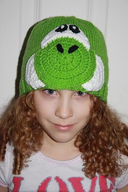 Free Crochet Hat Pattern Yoshi