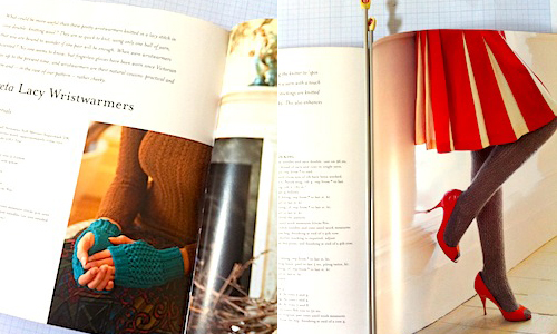 Knit Vintage stockings and wristwarmers