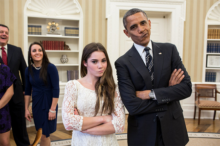 Barack and McKayla are not impressed