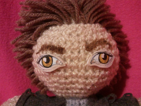 Knitted Edward Cullen Twilight Doll