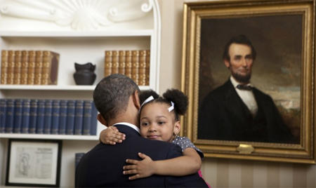 Barack Obama wins at hugs