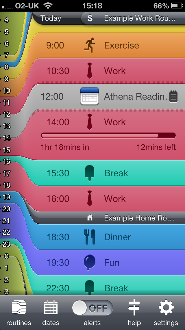 Getting organised: Daily Routine app