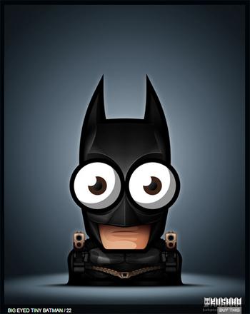 Big-eyed tiny Batman