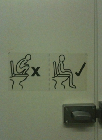 How to use a toilet - detailed instructions