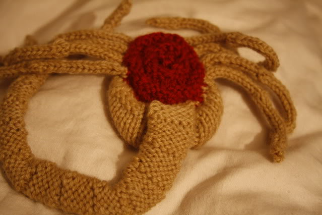 Knit A Monster A Knitted Alien Face Hugger