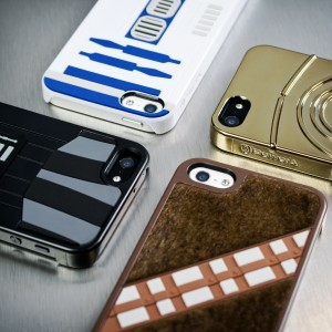 Star Wars phone covers. Including fuzzy Chewie.