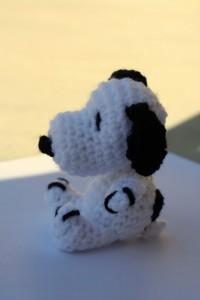 Snoopy, crochet style.