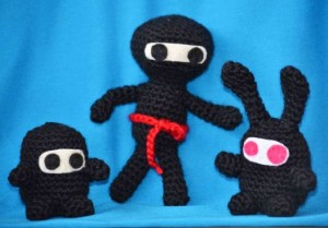 Amigurumi Ninjas. Far out, man.