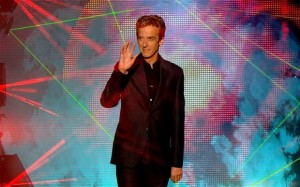 Peter Capaldi being introduced as the Twelfth Doctor