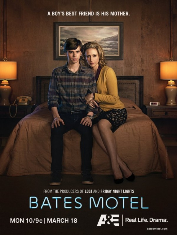 Like mother like son. Just don't get into their shower.... Bates Motel, Thursdays at 9PM on Universal.