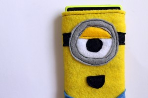 Minion phone cozy