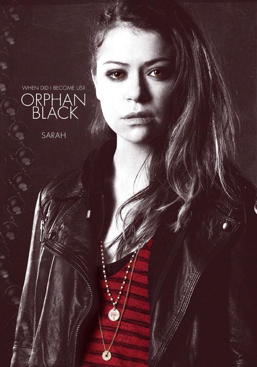 Tatiana Maslany as Sarah in BBC Three's Orphan Black