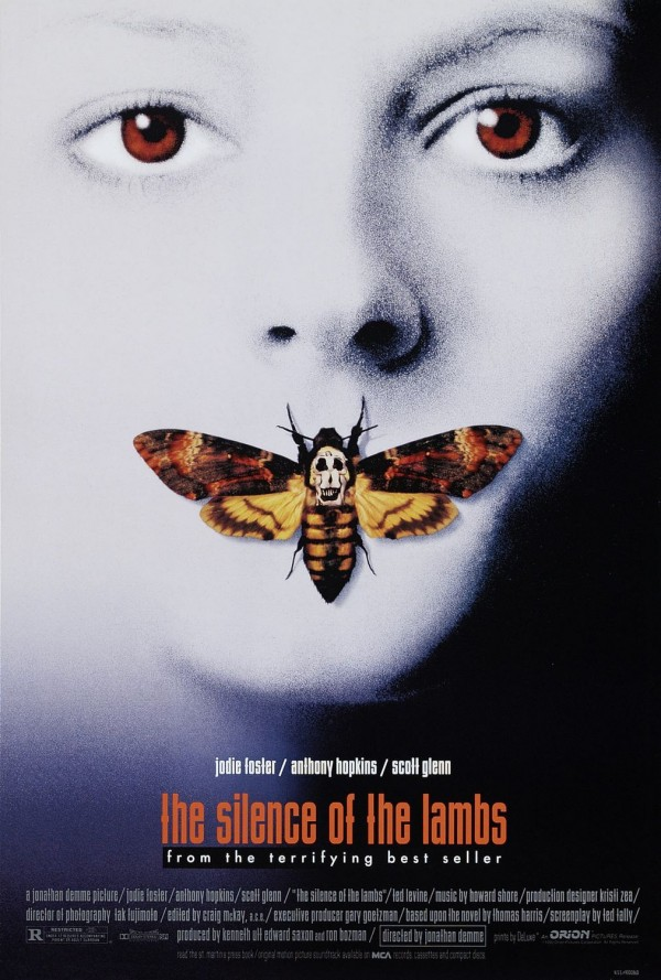 The official Silence of the Lambs film poster.