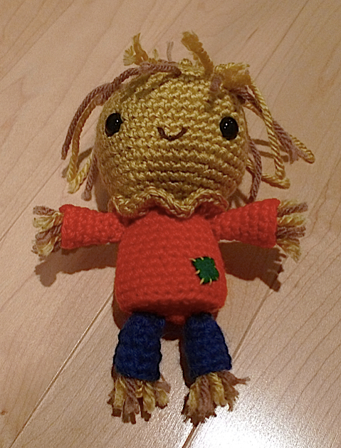 A scarecrow in the making...