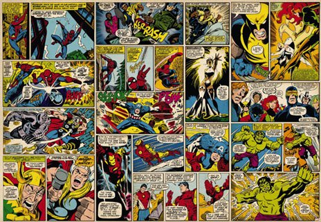 A gorgeous Marvel Comics wall mural