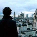 Sherlock, gazing down at London
