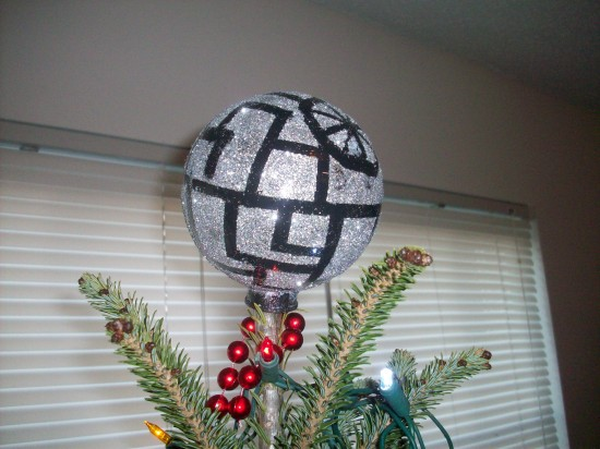 DIY Death Star Christmas Tree Topper