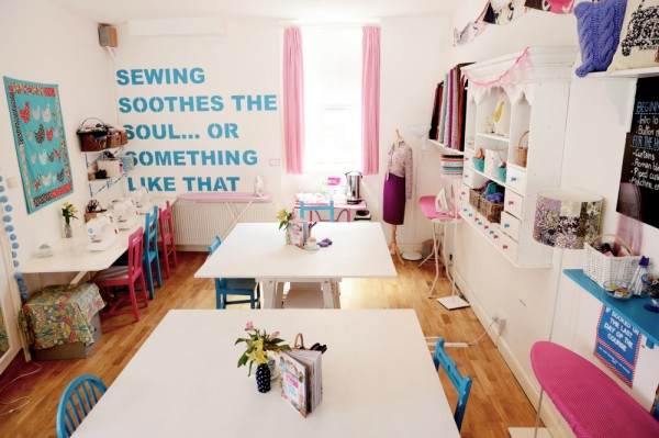 The sewing cafe at Sew Over It.