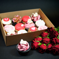 Crumbs & Doillies Valentine's Day cupcakes
