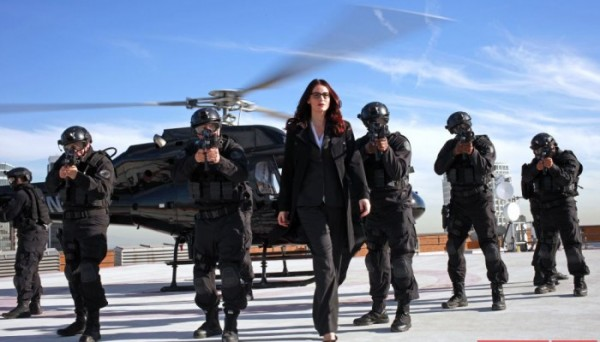 Agent Victoria Hand arriving on the scene in Agents of SHIELD - The Magical Place
