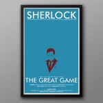 Sherlock The Great Game Minimalist poster by The Geekerie