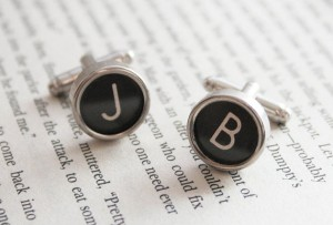 Typewriter cufflinks by Etsy's KfiatekGiftedHands