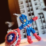 Rainbow Loom Captain America, by PG'sLoomacy on YouTube