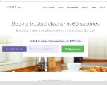 screenshot from Hassle.com's website