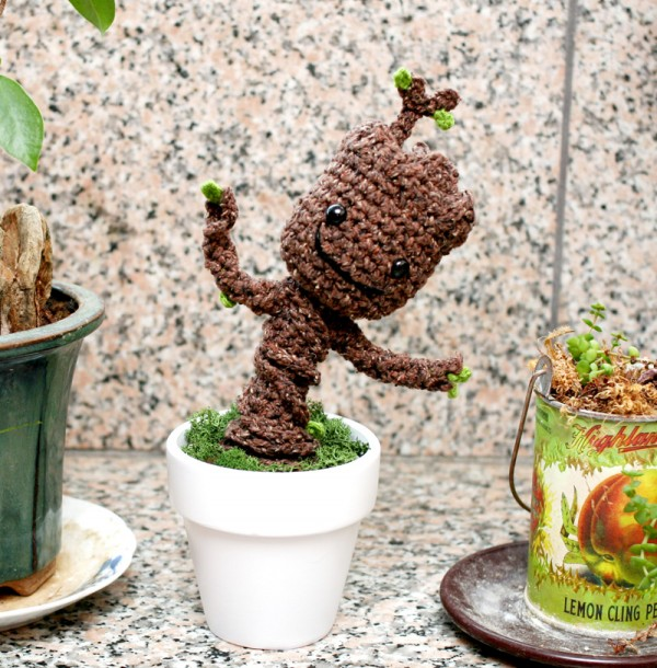 Potted dancing baby Groot, designed by Twinkie Chan