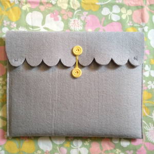 DIY iPad case - the finished product