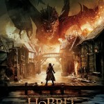 Bard faces up to Smaug and defends Lake Town in this poster for The Battle of the Five Armies