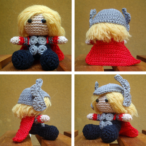 Thor crochet doll