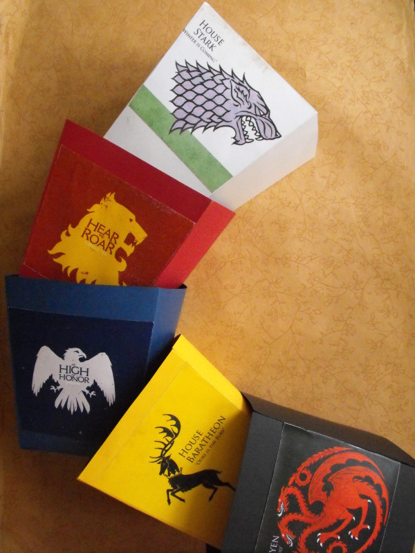 Game of Thrones popcorn boxes