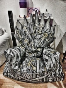 iron throne bean bag
