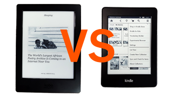 Showdown: The Kobo Aura H2O vs Kindle Paperwhite